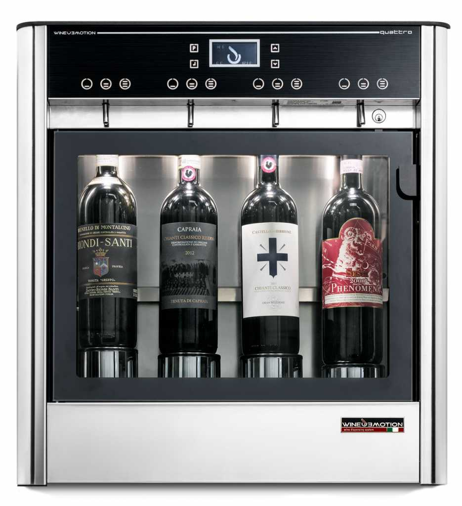 Four bottle wine dispenser