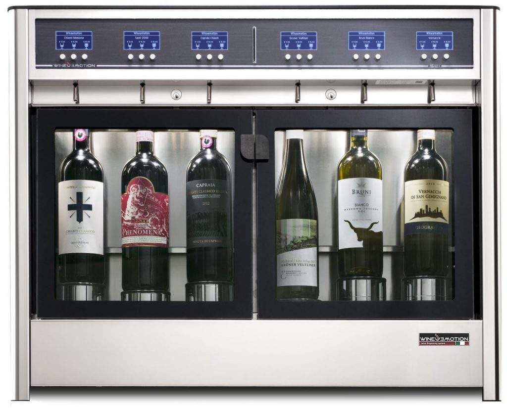 Six Bottles wine dispenser