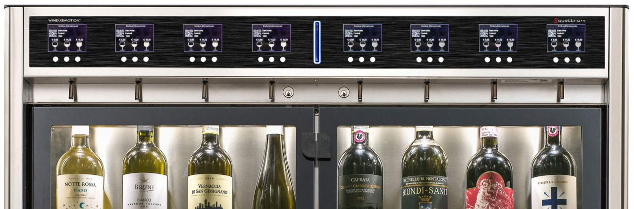 Wineemotion, dispenser per vino la bicchiere.