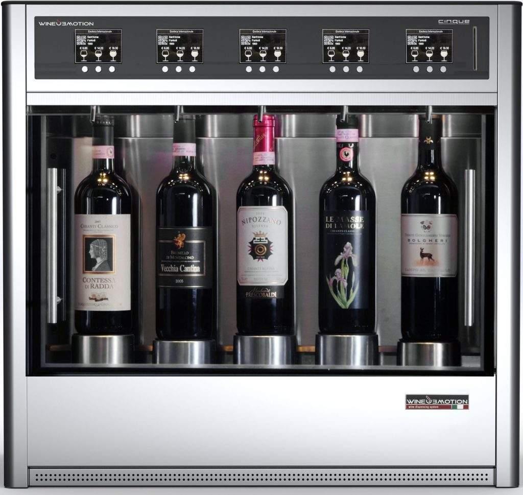 Five bottle wine dispenser